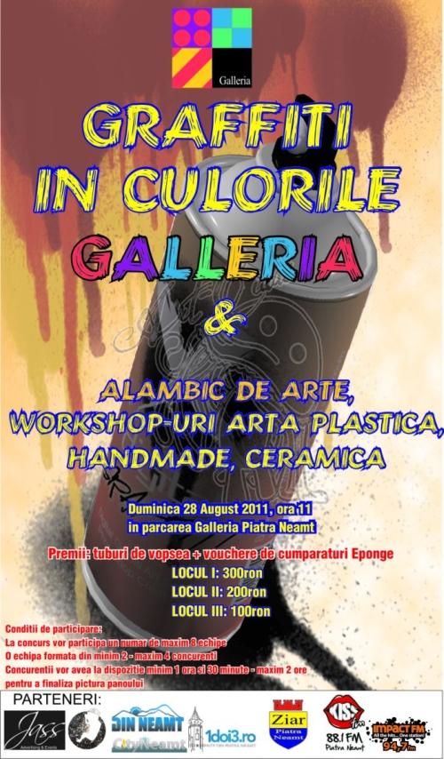 poster graffiti in culorie galleria