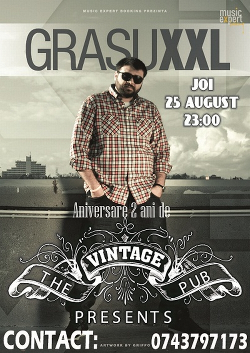 afis concert grasu xxl vintage pub