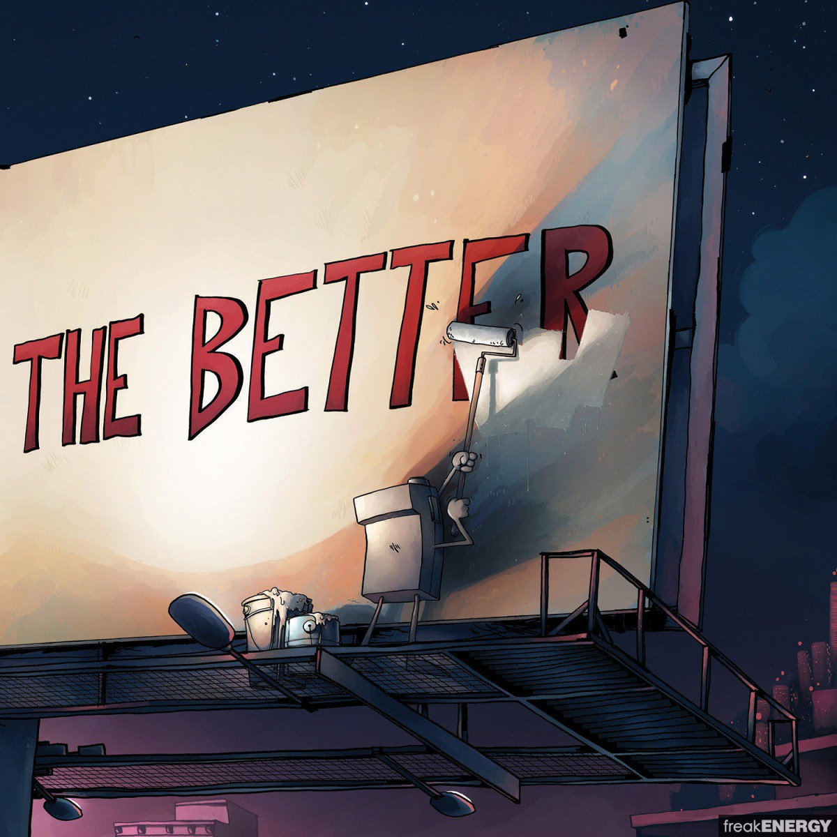 coperta album the less you know the better